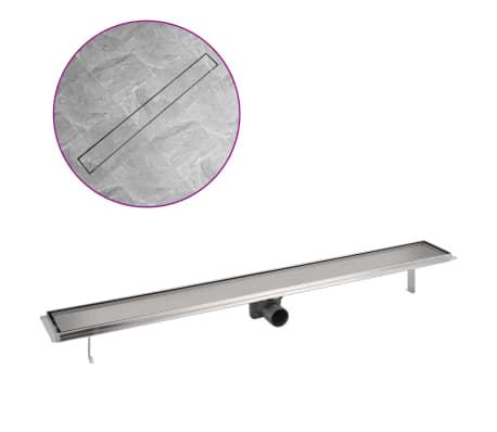 vidaXL Sprchový odtokový žlab rovný 1030x140 mm nerezová ocel[2/6]
