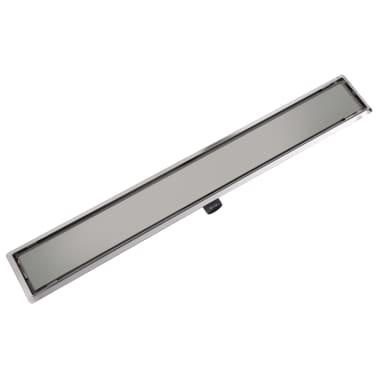 vidaXL Sprchový odtokový žlab rovný 1030x140 mm nerezová ocel[3/6]