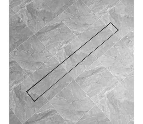 vidaXL Sprchový odtokový žlab rovný 1030x140 mm nerezová ocel[1/6]