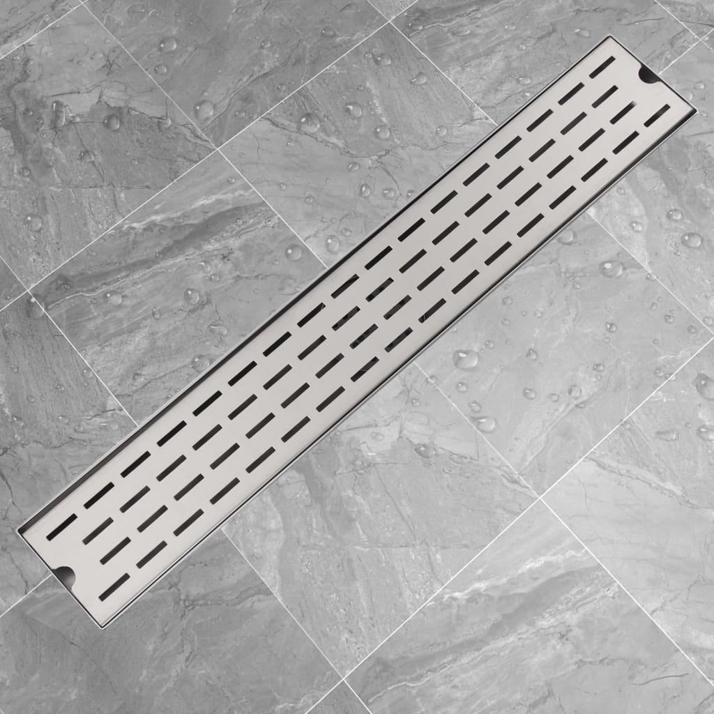 Rovný sprchový odtokový žlab čárky 730x140 mm nerezová ocel