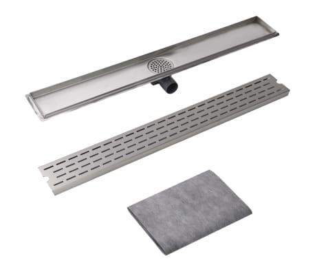 vidaXL pailgas dušo latakas, nerūdijančio plieno, 930x140 mm[3/7]