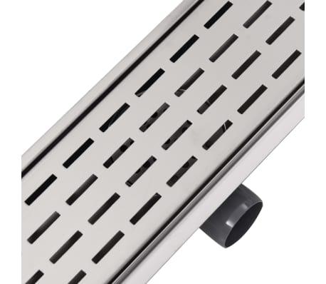 vidaXL pailgas dušo latakas, nerūdijančio plieno, 930x140 mm[6/7]