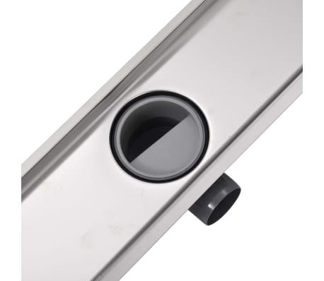 vidaXL pailgas dušo latakas, nerūdijančio plieno, 930x140 mm[7/7]