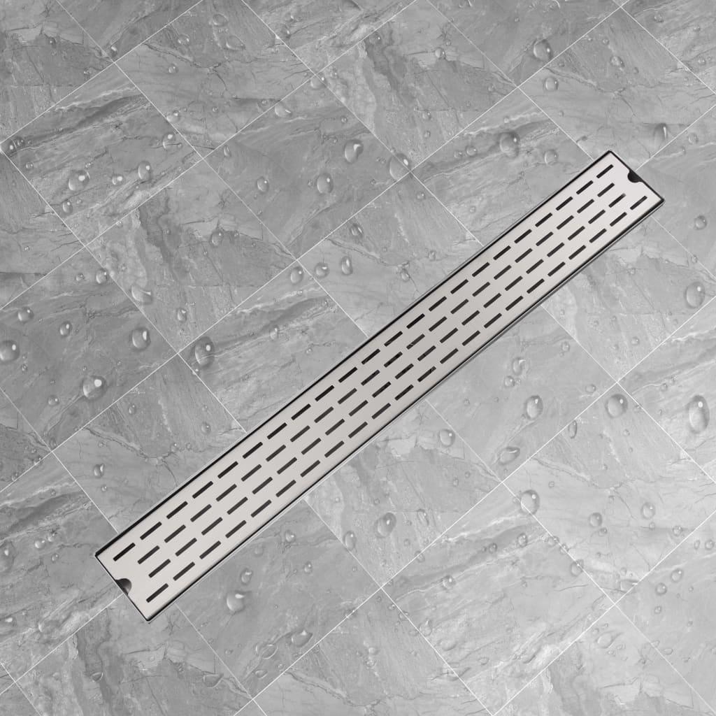 Rovný sprchový odtokový žlab čárky 930x140 mm nerezová ocel
