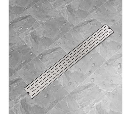 vidaXL pailgas dušo latakas, nerūdijančio plieno, 930x140 mm[1/7]