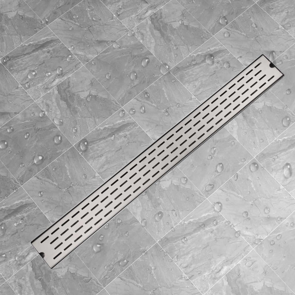 Rovný sprchový odtokový žlab čárky 1030x140 mm nerezová ocel