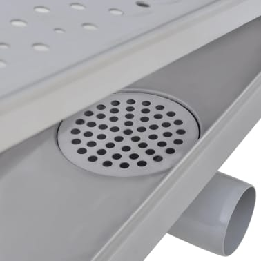 vidaXL Linear Shower Drain Bubble 530x140 mm Stainless Steel[7/9]