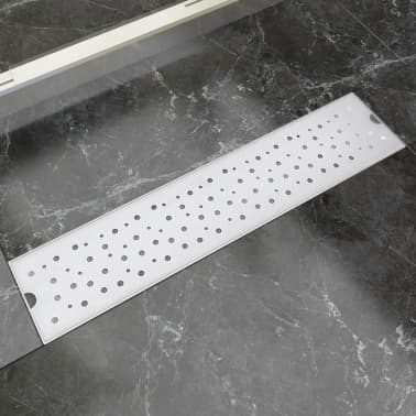 vidaXL Linear Shower Drain Bubble 530x140 mm Stainless Steel[1/9]