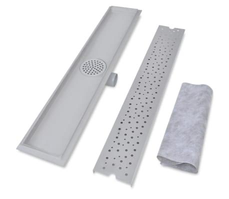 vidaXL pailgas dušo latakas, nerūdijančio plieno, 730x140 mm[3/9]