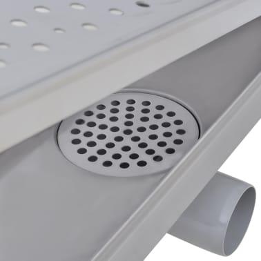 vidaXL pailgas dušo latakas, nerūdijančio plieno, 730x140 mm[7/9]