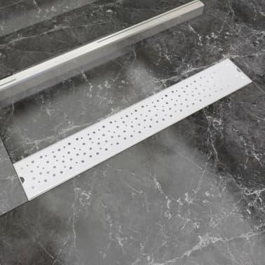 vidaXL pailgas dušo latakas, nerūdijančio plieno, 730x140 mm[1/9]