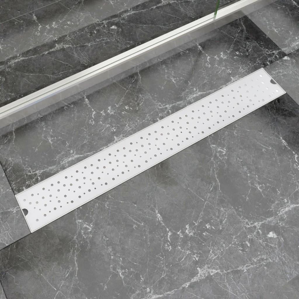 Rovný sprchový odtokový žlab bubliny 830x140 mm nerezová ocel
