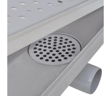 vidaXL Rovný sprchový odtokový žlab bubliny 1030x140 mm nerezová ocel[7/9]