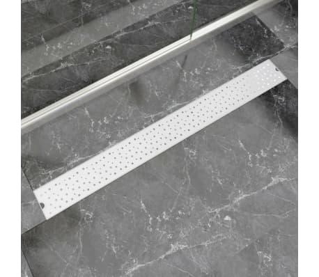 vidaXL Rovný sprchový odtokový žlab bubliny 1030x140 mm nerezová ocel[1/9]