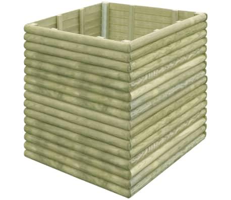 vidaXL Plantenbak verhoogd 106x106x96 cm geïmpregneerd grenenhout