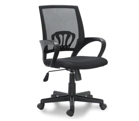"vidaXL Office Chair Plastic Black 35.4""-39.8""[1/3]"