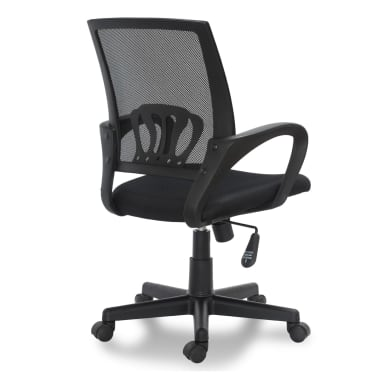 "vidaXL Office Chair Plastic Black 35.4""-39.8""[3/3]"