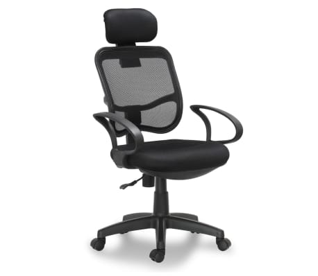 "vidaXL Office Chair Plastic Black 41.7""-46.5""[1/4]"