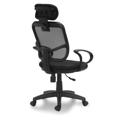 "vidaXL Office Chair Plastic Black 41.7""-46.5""[3/4]"