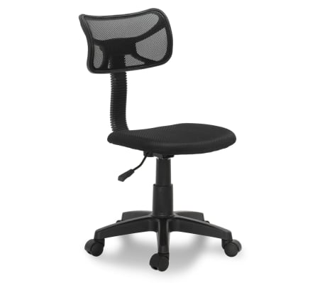 "vidaXL Office Chair Plastic Black 30.3""-35""[1/3]"