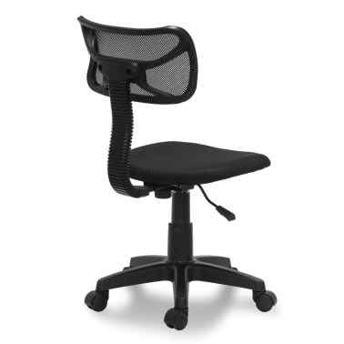 "vidaXL Office Chair Plastic Black 30.3""-35""[3/3]"