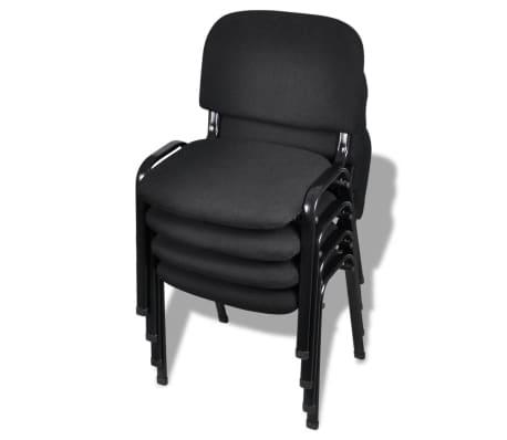 vidaXL Stack Office Chair 4 pcs Black[1/5]