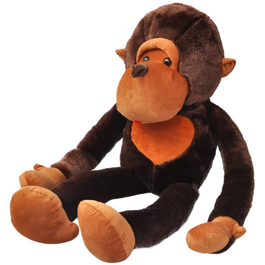 vidaXL Opice plyšová hračka hnědá 100 cm