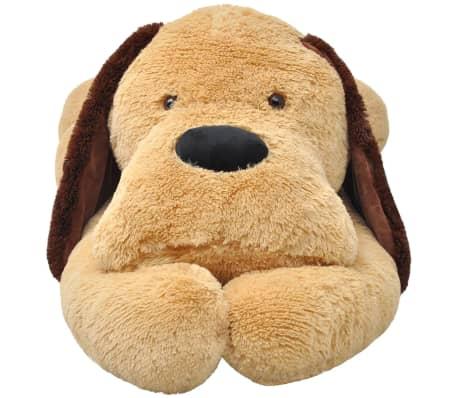 vidaXL Dog Cuddly Toy Plush Brown 80 cm[2/4]
