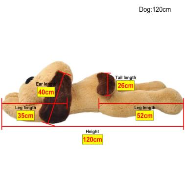 vidaXL hund plysdyr brun 120 cm[4/4]