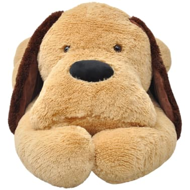 vidaXL Dog Cuddly Toy Plush Brown 160 cm[2/4]