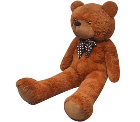 vidaXL Teddy Bear Cuddly Toy Plush Brown 242 cm