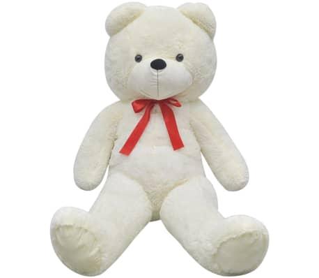 vidaXL rotaļu lācis, balts plīšs, 260 cm, balts[2/5]