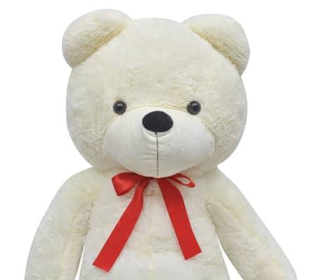 vidaXL rotaļu lācis, balts plīšs, 260 cm, balts[3/5]
