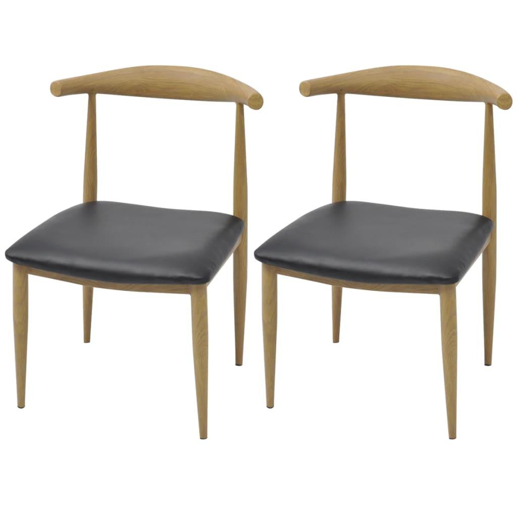 vidaXL Καρέκλες Τραπεζαρίας 2 τεμ. Μαύρες
