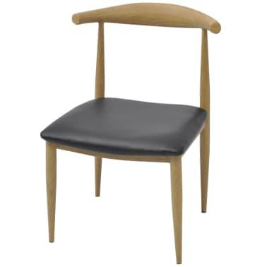 vidaXL spisebordsstole 4 stk. sort[2/5]