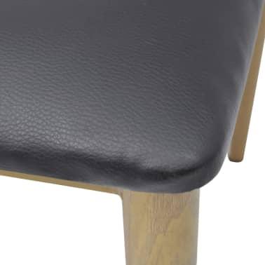 vidaXL spisebordsstole 4 stk. sort[4/5]