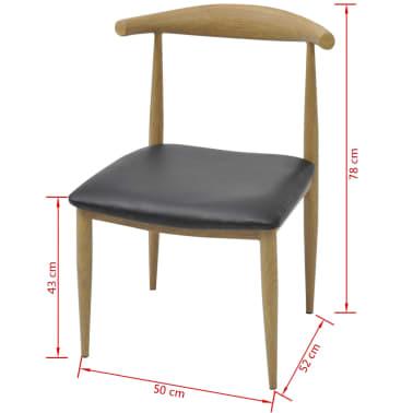 vidaXL spisebordsstole 4 stk. sort[5/5]