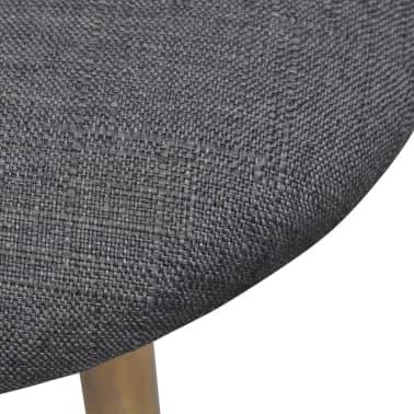 vidaXL Sillas de comedor 2 unidades tela gris oscuro[6/7]