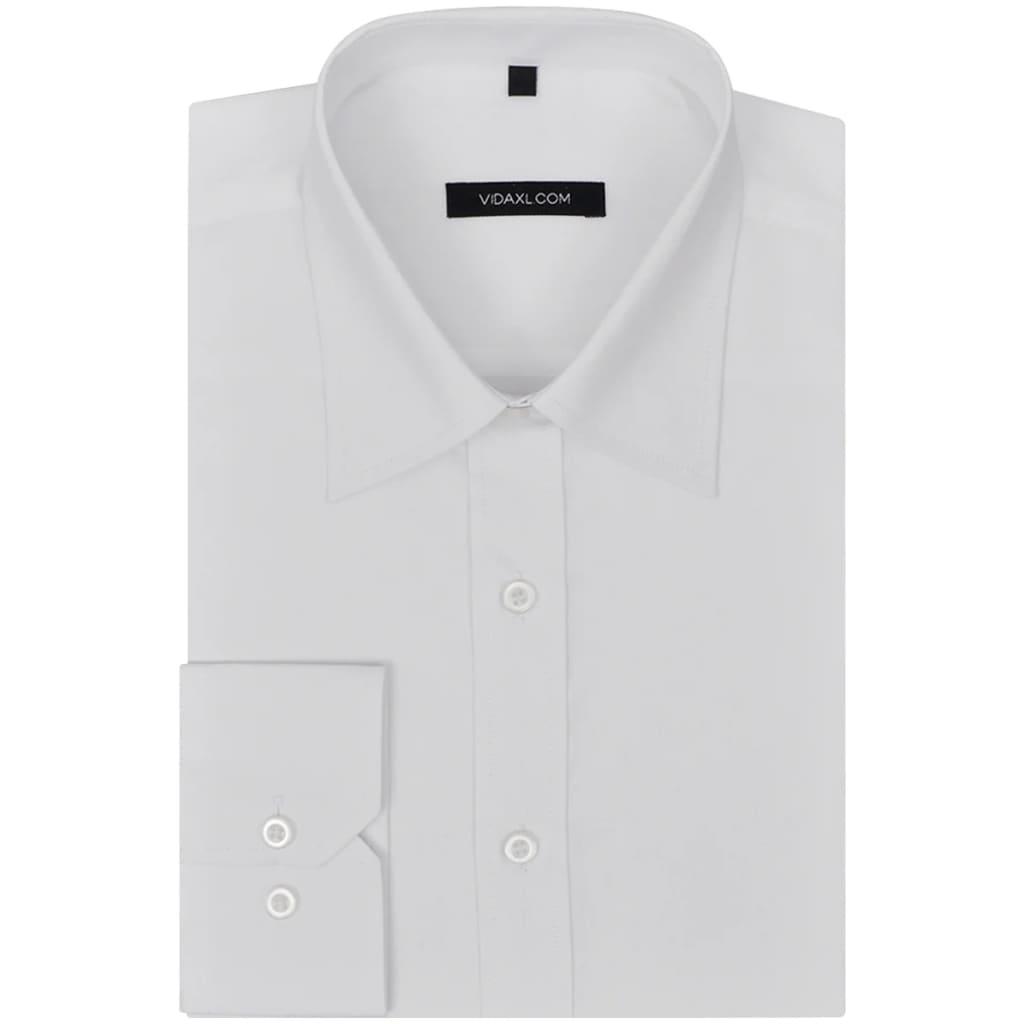 vidaXL Pánská business košile bílá vel. M