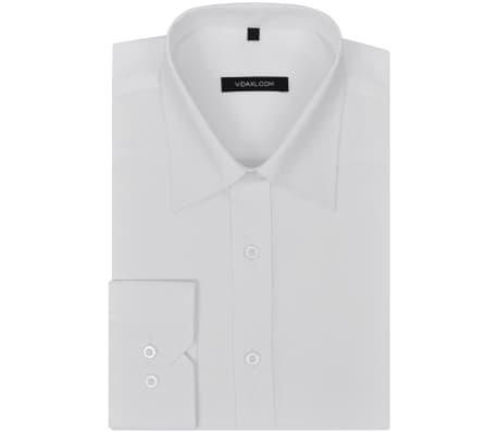 acheter vidaxl chemise pour hommes taille l blanc pas cher. Black Bedroom Furniture Sets. Home Design Ideas