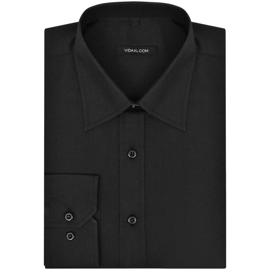vidaXL Pánská business košile černá vel. L