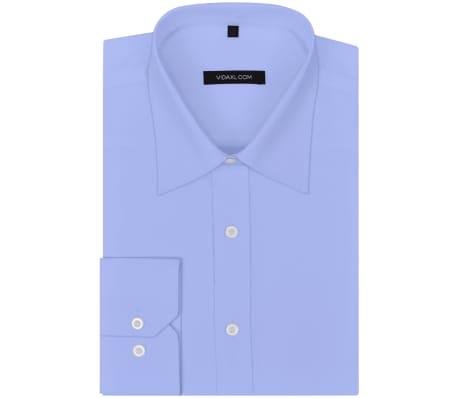 vidaXL Vyriški kostiumo marškiniai, dydis XXL, šviesiai mėlyni