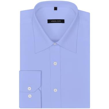 vidaXL Vyriški kostiumo marškiniai, dydis XXL, šviesiai mėlyni[1/4]