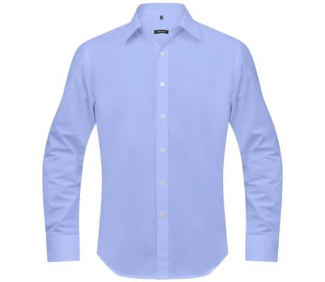 vidaXL Vyriški kostiumo marškiniai, dydis XXL, šviesiai mėlyni[2/4]
