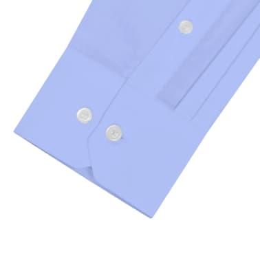 vidaXL Vyriški kostiumo marškiniai, dydis XXL, šviesiai mėlyni[3/4]
