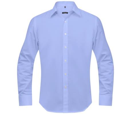 vidaXL Vyriški kostiumo marškiniai, 3 vnt. dydis S, šviesiai mėlyni[3/7]
