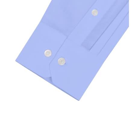vidaXL Vyriški kostiumo marškiniai, 3 vnt. dydis S, šviesiai mėlyni[6/7]