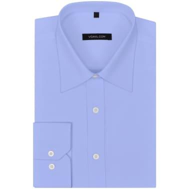 vidaXL Camisas de vestir de hombre 3 unidades S azul claro[5/7]