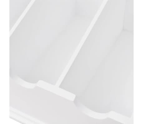 vidaXL Besteckschublade MDF Weiß Barocker Stil[5/5]