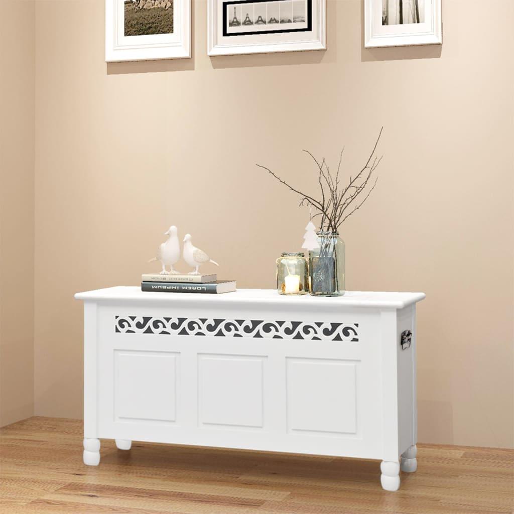 Petit Banc D Entrée Avec Rangement détails sur vidaxl banc de rangement en style baroque pfdm blanc banquette  meuble d'entrée